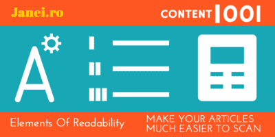Janeiro - Elements Of Readability - Content